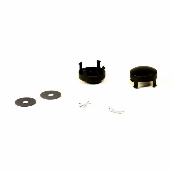Viaro Stroller - Black Wheel Kit - Hubcap, washer, cotter pin in