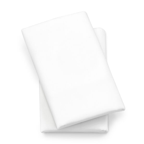 Lullaby Playard Fitted Sheet, 2-Pack - White in White