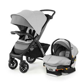 Chicco Bravo LE Trio Travel System in Driftwood