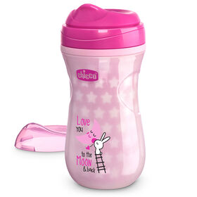 Glow In The Dark Insulated Rim Trainer Cup 9oz 12m+ in Pink in