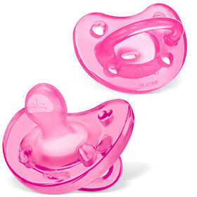 PhysioForma Soft Silicone Pacifier - Pink 6-16m (2pc) in