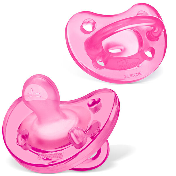 NaturalFit 0-6M Soft Silicone Orthodontic Pacifiers - Pink (2pk) in