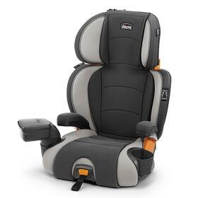 KidFit Zip 2-in-1 Belt-Positioning Booster Car Seat in Steel Grey