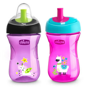 First Straw Trainer Cup 9oz 9m+ (2pk) in Pink/Purple in