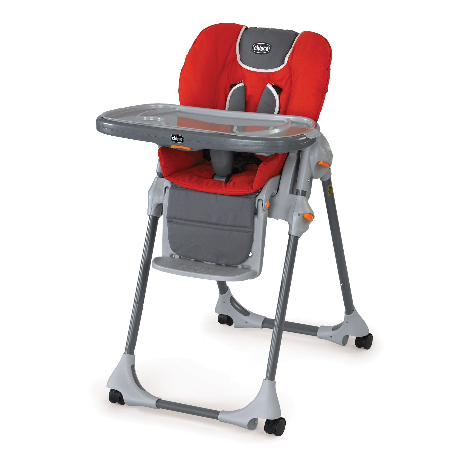 Perfect Chicco Polly Highchair Fuego   Bright Red With Gray Accents