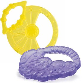 NaturalFit Lemon & Grape Shaped Silicone Teethers 0M+ (2pk) in