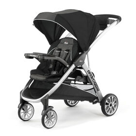 BravoFor2 Standing/Sitting Double Stroller in Iron
