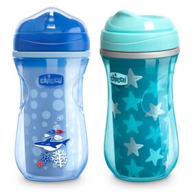 Insulated Rim Trainer Cup 9oz 12m+ (2pk) in Teal/Blue in