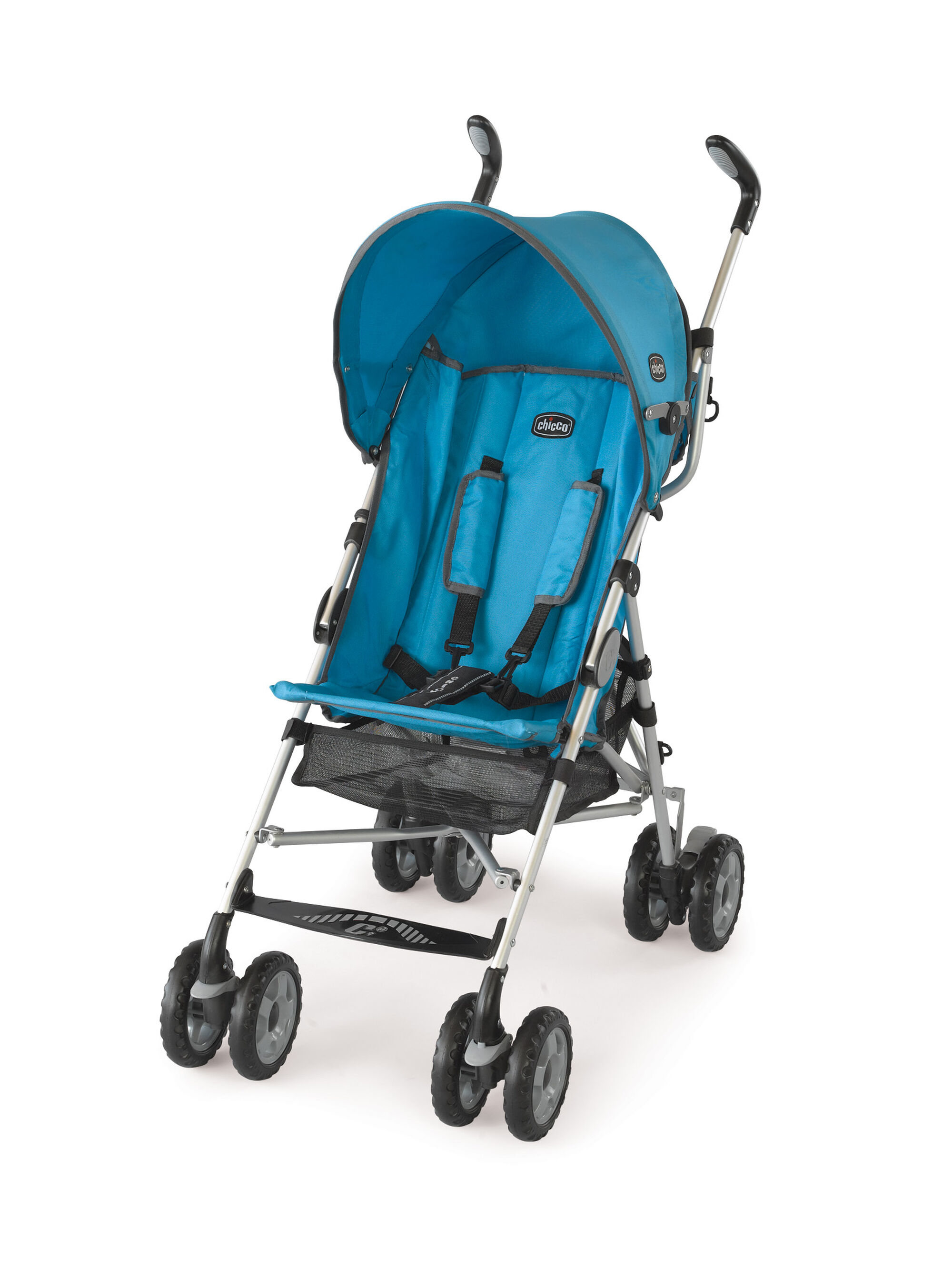 chicco c6 lightweight stroller Chicco Capri Lightweight Stroller in bright blue aqua color Topazio