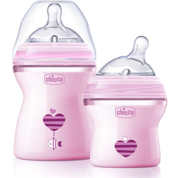 NaturalFit Pink Colorific Bottle 0m+ Slow Flow (2pk) in