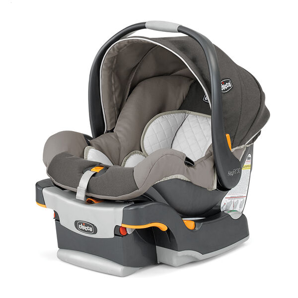 Chicco KeyFit 30 Infant Car Seat And Base In Soothing Neutral Beige Tan Fabric With