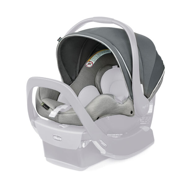 KeyFit 35 Zip ClearTex Infant Car Seat Cover, Canopy & Shoulder Pads - Ash in Ash