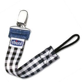 NaturalFit Fashion Pacifier Clip - Black Gingham in