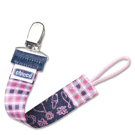 NaturalFit Fashion Pacifier Clip - Pink Gingham in