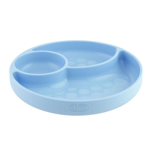 Chicco Easy Menu Silicone Divided Plate in Teal