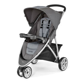 The Chicco Viaro stroller is the lightest stroller yet featuring 3-wheels, a one-hald fold, and compact storage.
