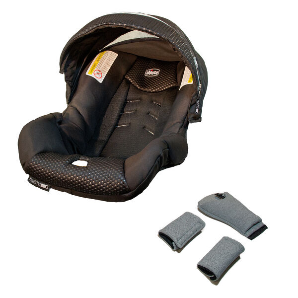 KeyFit Zip Infant Car Seat Cover, Canopy, and Pads - Obsidian