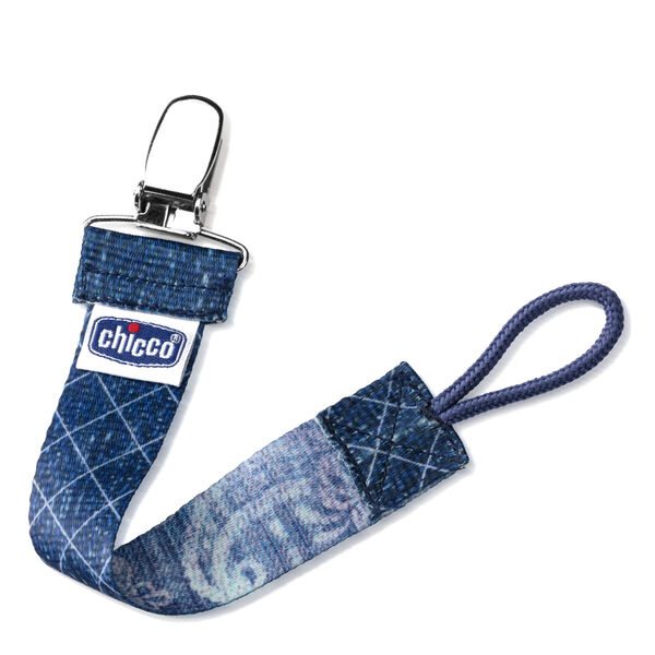NaturalFit Fashion Pacifier Clip - Denim in