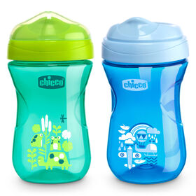 Rim Trainer Sippy Cup 9oz 9m+ (2pk) in Blue/Teal in
