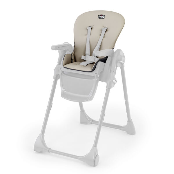 Polly Highchair Seat Cover - Taupe in Taupe