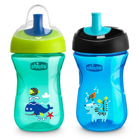 First Straw Trainer Cup 9oz 9m+ (2pk) in Teal/Blue in