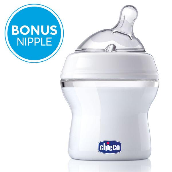 NaturalFit 5 oz. Baby Bottle 0M+ Slow Flow w/ Bonus Straight Nipple in