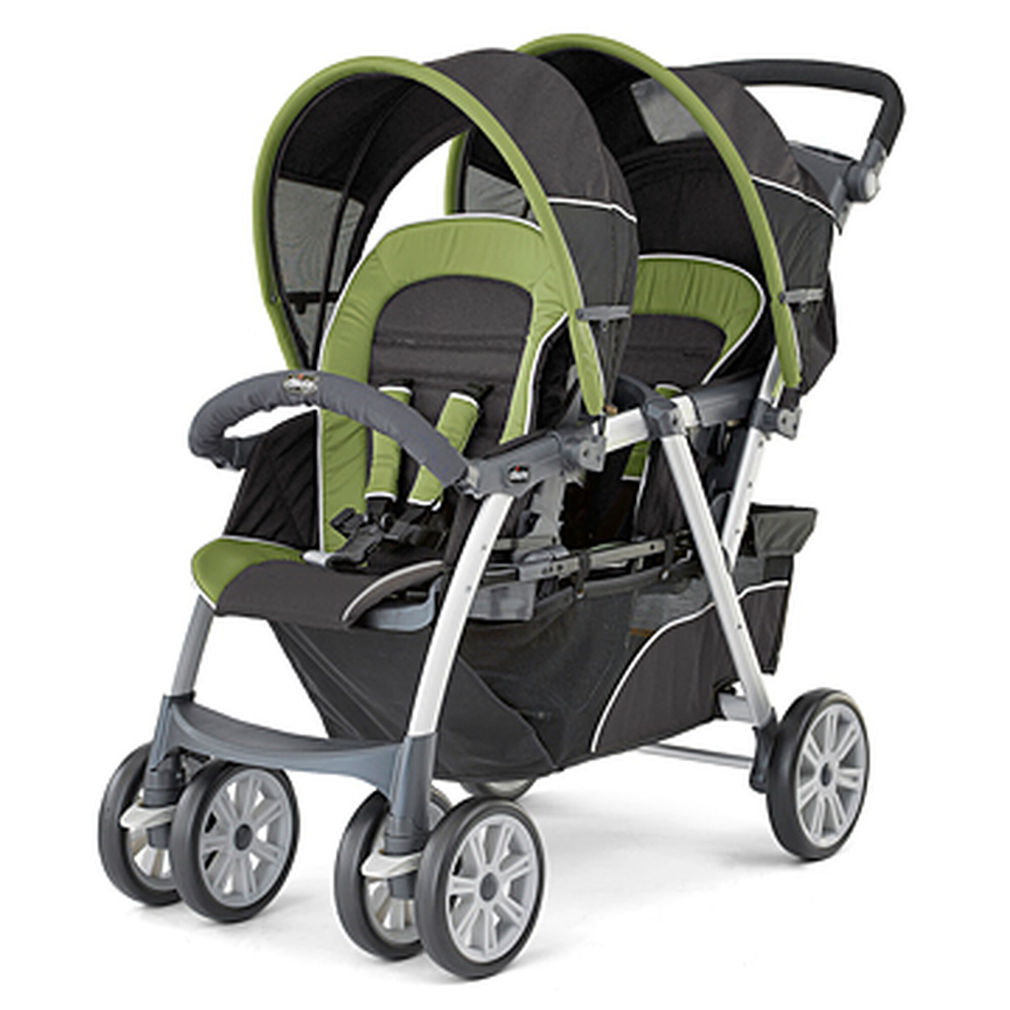 Chicco Cortina To her Double Stroller Elm black and natural green