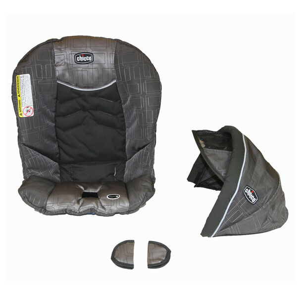 Chicco KeyFit 30 replacement seat cover, canopy, and shoulder pads for harness
