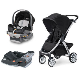 Chicco KeyFit Infant Car Seat and Base with Bravo Stroller - Ombra