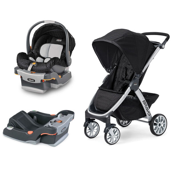 Chicco KeyFit Infant Car Seat And Base With Bravo Stroller
