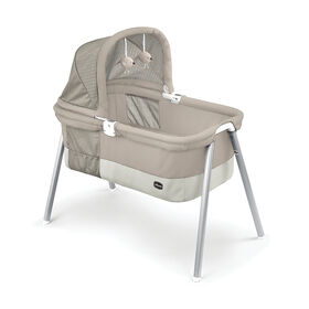 LullaGo Deluxe Portable Bassinet in Taupe