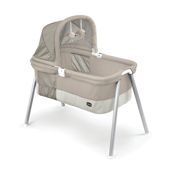 LullaGo Deluxe Portable Bassinet - Taupe in Taupe