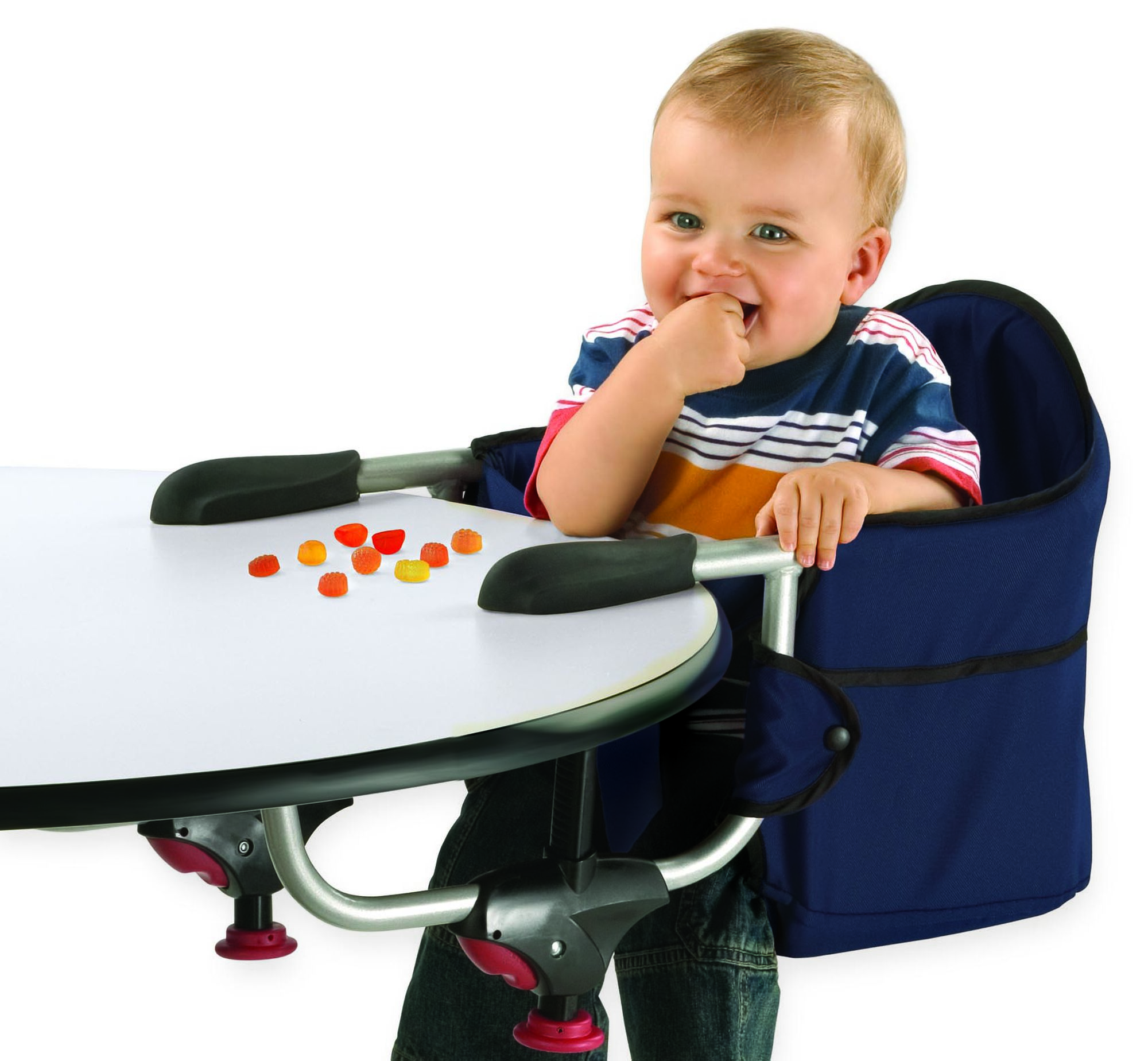 The Chicco Caddy Clip On Highchair Fits Both Straight And Rounded Tables