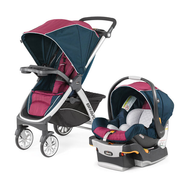 Bravo Trio Travel System - Blackberry in Blackberry