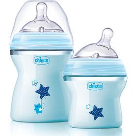 NaturalFit Blue Colorific Bottle 0m+ Slow Flow (2pk) in