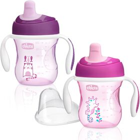 Chicco NaturalFit Semi-soft Spout Trainer Cup - Girl