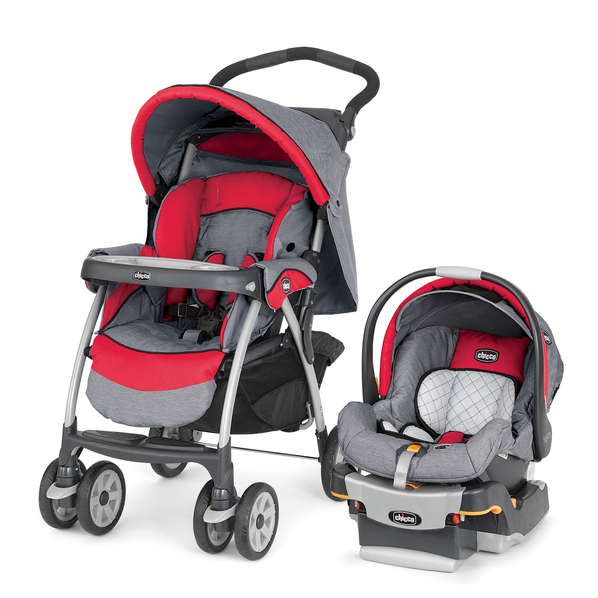 Chicco Cortina Travel System Red