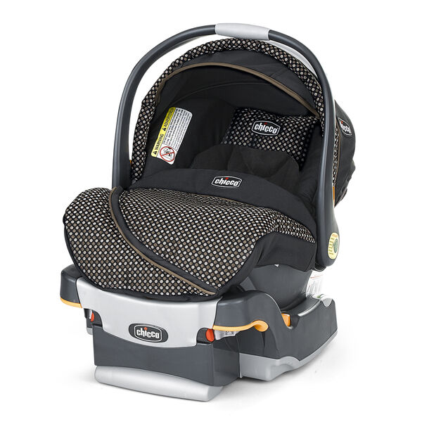 Chicco KeyFit 30 Infant Car Seat and Base Minerale - black with silver and brown-tan geometric small circle pattern - Limited Edition