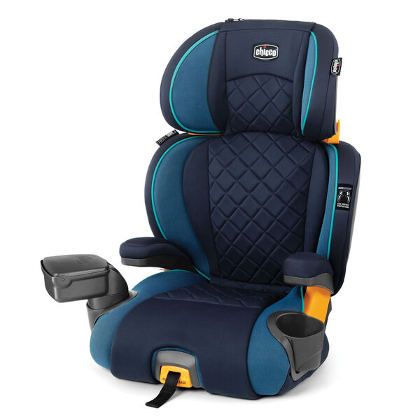 KidFit Zip Plus 2-in-1 Belt-Positioning Booster Car Seat - Seascape in Seascape