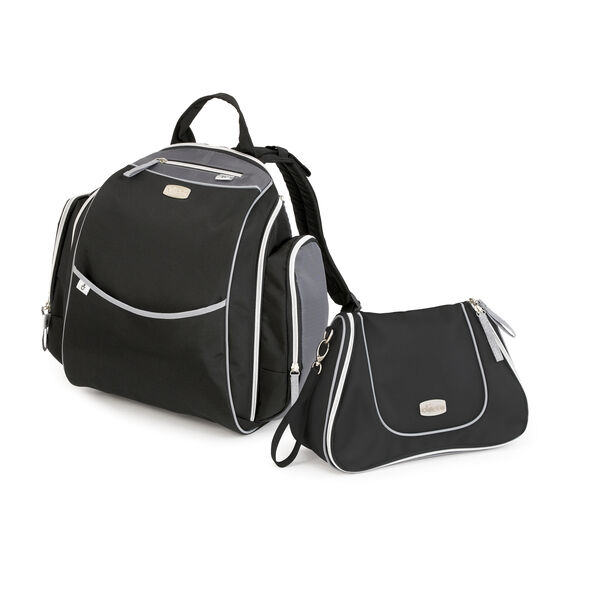 Urban Backpack & Dash Bag - Black in Black