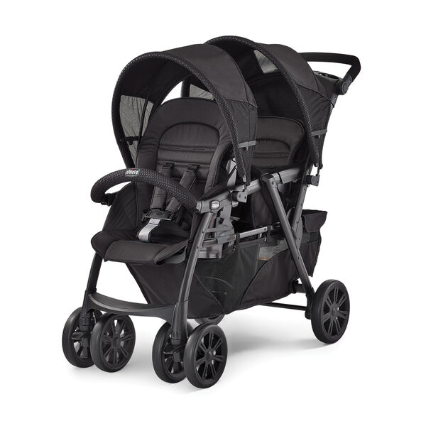 build for growing familes, configure your stroller to accomodate 2 infants, an infant and a toddler or 2 toddlers.