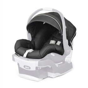 KeyFit 30 Zip Infant Car Seat Cover, Canopy, and Pads in BLACK