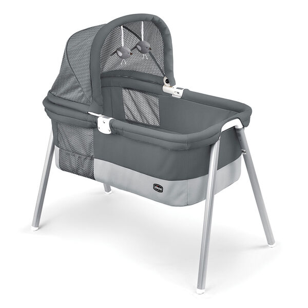 LullaGo Deluxe Portable Bassinet - Charcoal in Charcoal