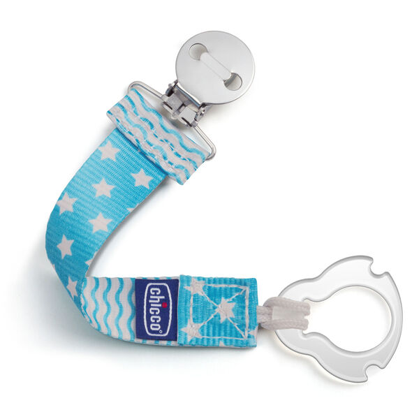 Universal Two-in-One Fashion Pacifier Clip - Blue in