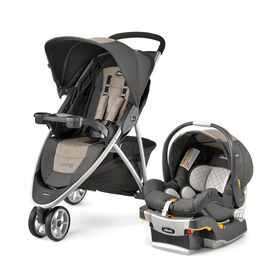 Viaro Quick-Fold Travel System in Teak