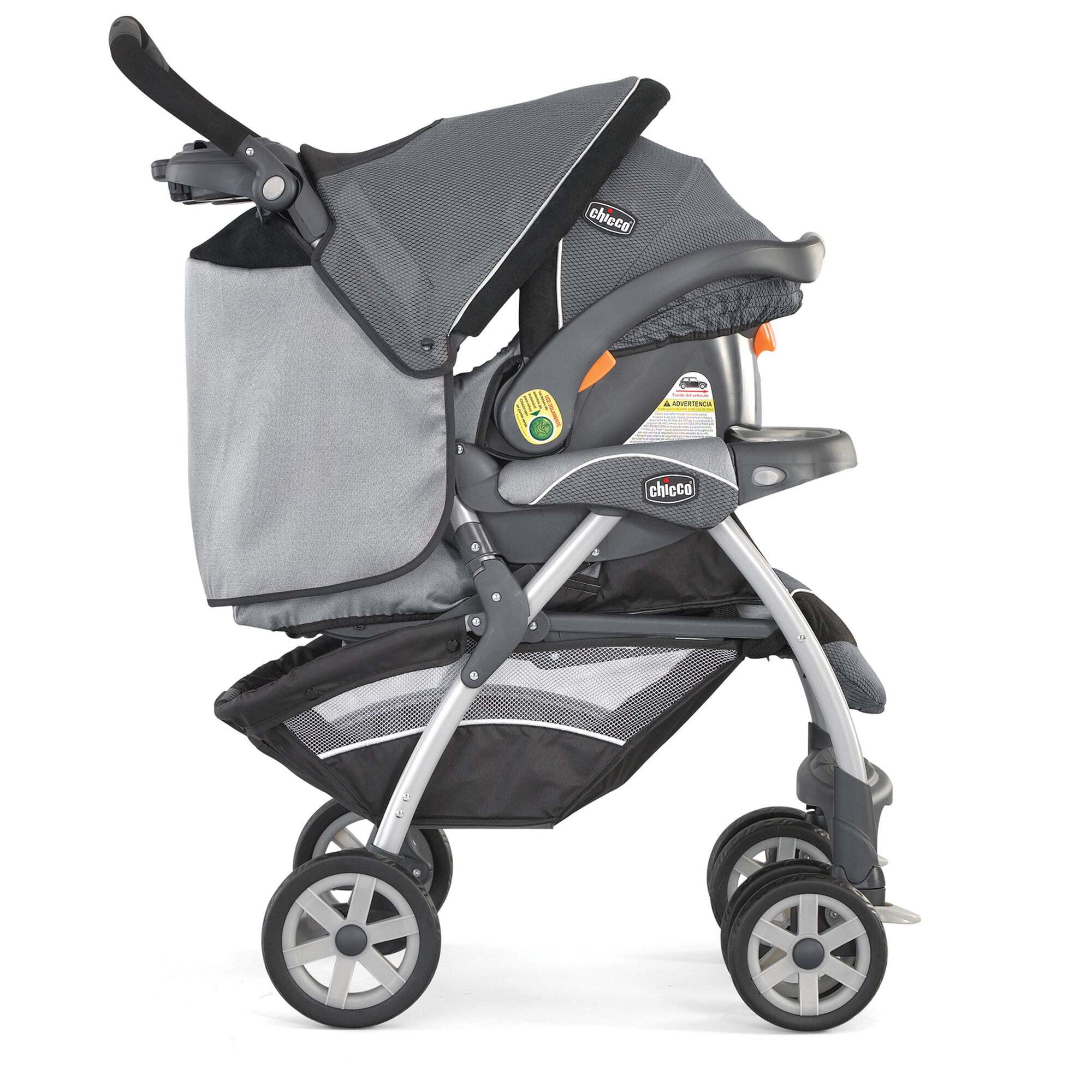 Chicco Cortina KeyFit 30 Travel System Graphica stroller and KeyFit 30 Infant Car Seat bined