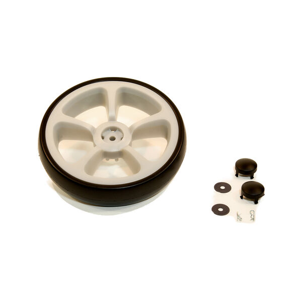 Viaro Stroller Rear Wheel Assembly Kit - Silver in Silver