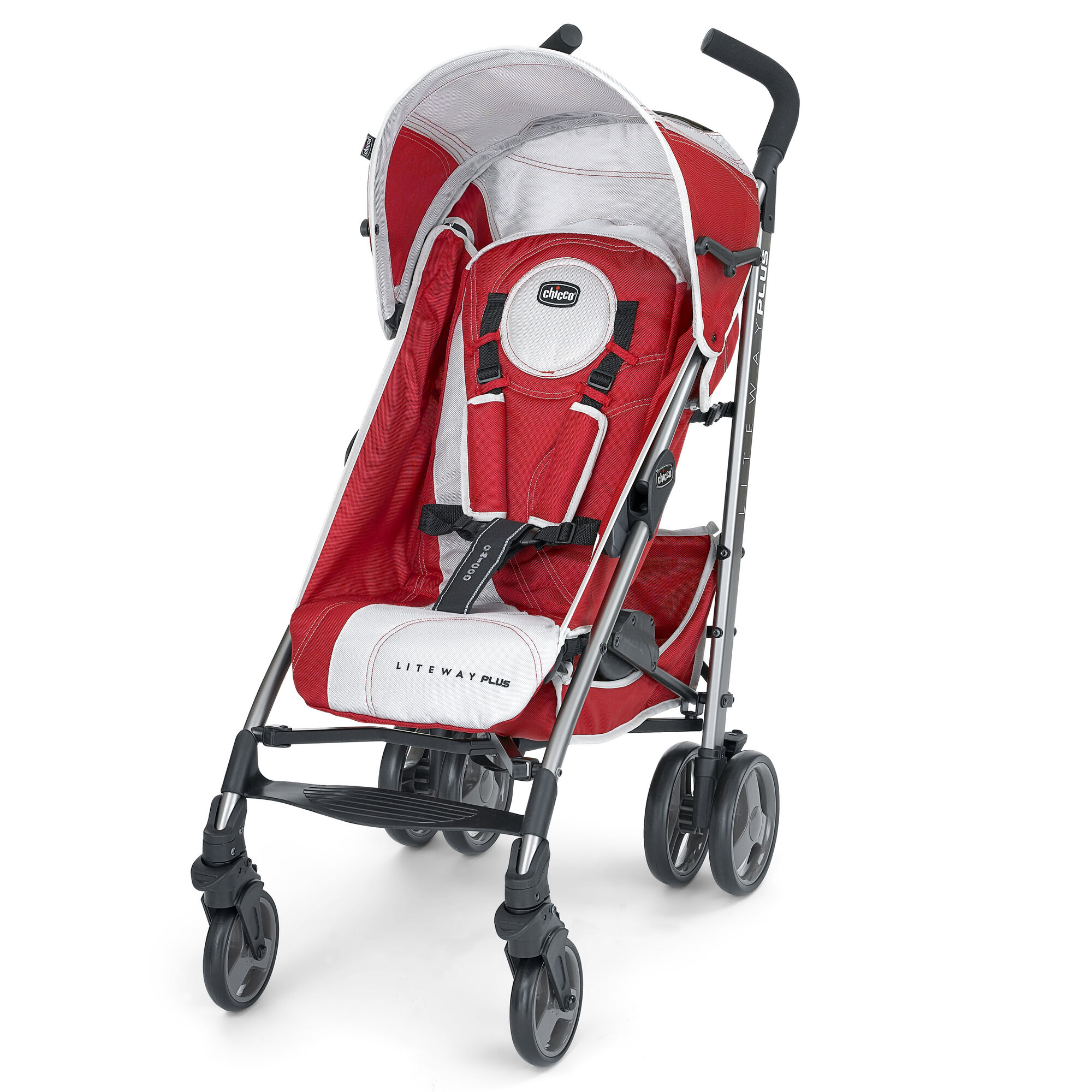 Chicco Liteway Plus Stroller Snapdragon Red and Silver