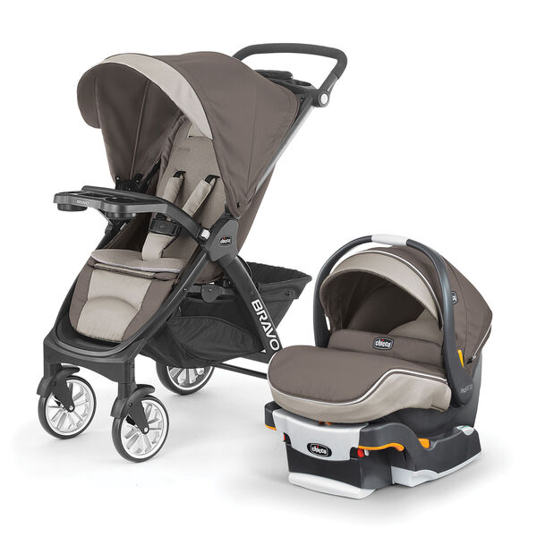 Chicco Bravo LE Travel System - Latte Fashion
