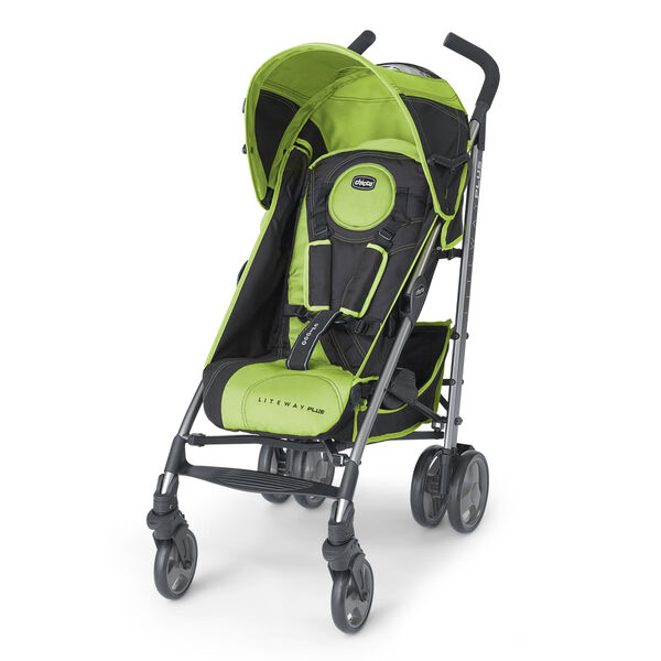 Chicco Liteway Plus Lightweight Stroller in dark gray and lime green - Surge
